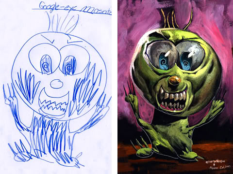 15 Children's Monster Drawings Painted Realistically