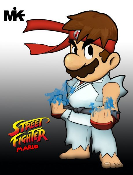 Street Fighter Mario Characters