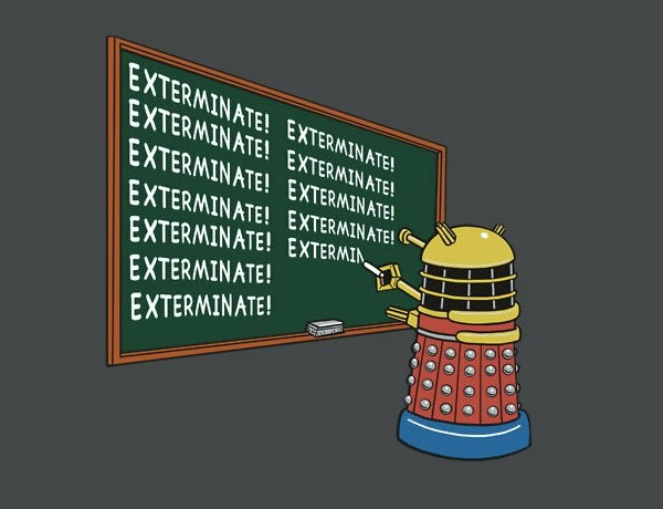 the final countdown exterminate exterminate and exterminate