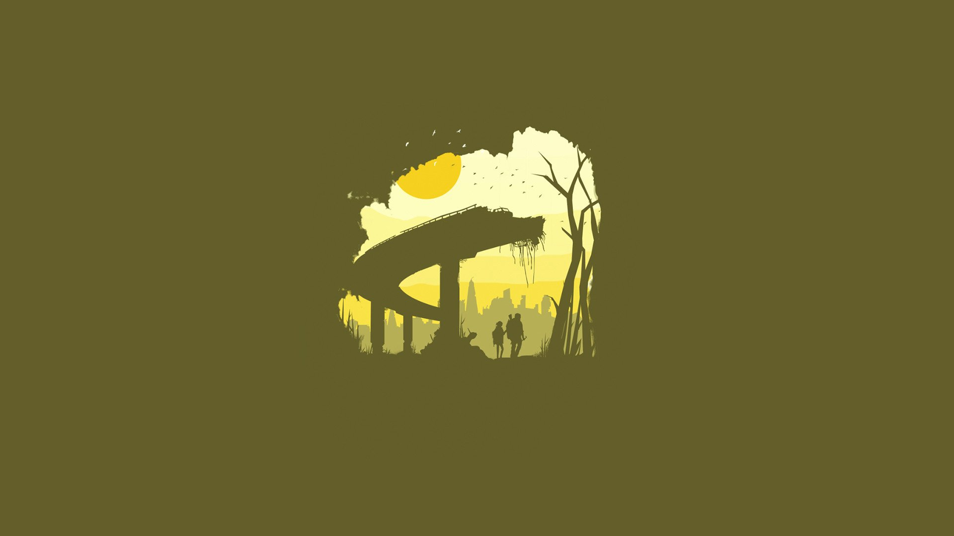 Minimalist Last Of Us Wallpaper
