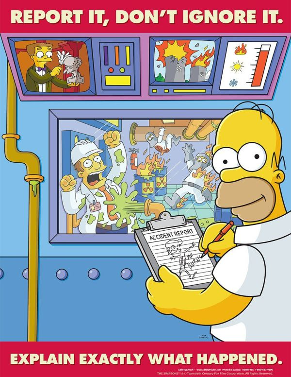 the simpsons giving crucial work safety lessons